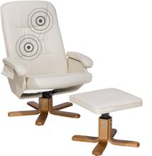 Lämmittävä Hierova beige nojatuoli RelaxPRO