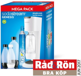 Sodastream Kolsyremaskin Genesis Megapack Vit/Grå