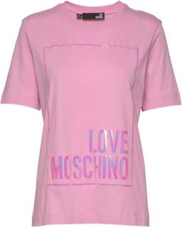 Love Moschino T-Shirt T-shirt Top Lyserød Love Moschino