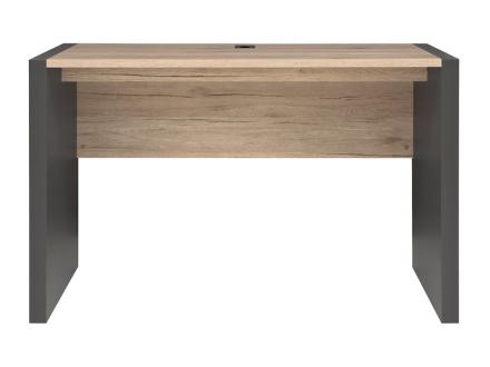 Boss skrivbord - Grafitgrå/ek