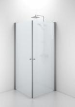 Ifö Space rett dør m/knoppgrep 70 cm, Frosset glass/Alu profil - Kun 1 dør