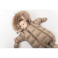 VER de TERRE - Bear - Featherlight baby Wintersuit w/fur / Flyverdragt - Miinto