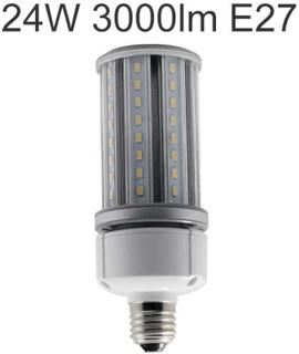 LED ljuskälla E27 24W 3000lm 360° ljusspridning för användning i slutna armaturer utomhus