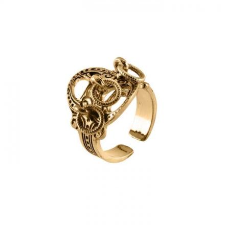 Ring forgylt 925
