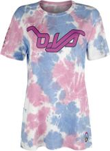 Overwatch - D.VA - Tie Dye -T-skjorte - flerfarget