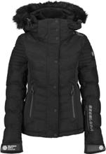 Superdry W Luxe Snow Puffer Jacket Lasketteluvaatteet ONYX BLACK FROST