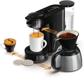 Philips Switch 3in1 Kaffebryggare Base+ Svart HD6594/60
