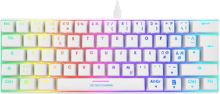 Deltaco Gaming Compact RGB Mekaniskt Tastatur White Line [Content Red]
