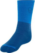 Norrøna Trollveggen Heavy Weight Merino Socks Unisex hverdagssokker Blå 37-39