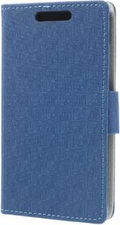 Maze design plånboksfodral till htc desire 601 - htc zara (blå)