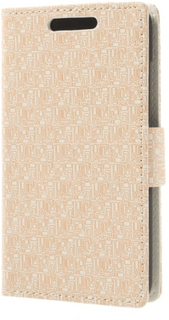 Maze design plånboksfodral till htc desire 601 - htc zara (beige