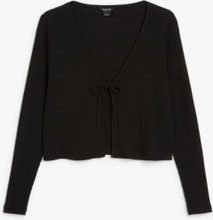 Cropped cardigan - Black