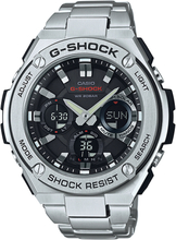 Casio G-SHOCK G-STEEL TOUGH SOLAR Analog-Digitaluhr GST-S110D-1A - Silber