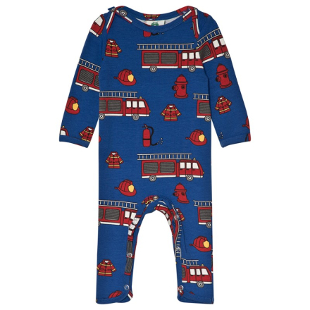 Machines and Car Print Langærmet Baby One-Piece Blå62cm (3 months) - Lekmer
