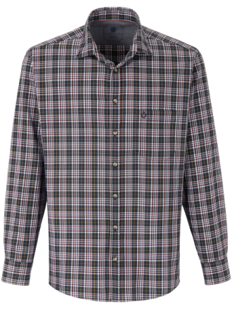Skjorta button down-krage från Hatico grå