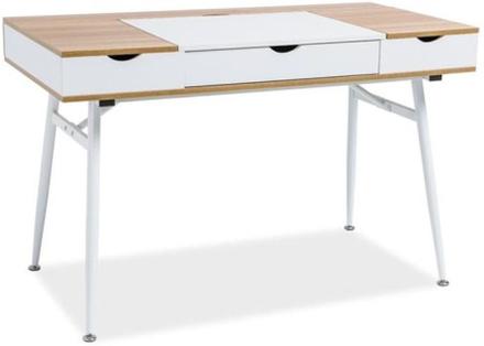Skrivbord Plugga - Vit/ek