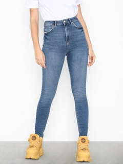 Gina Tricot Gina Curve Jeans Mid Blue