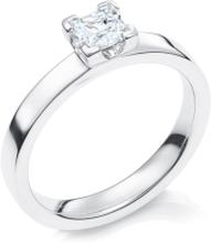Schalins Vigselring 18k Vitguld Elbe 0,50 Ct Diamant