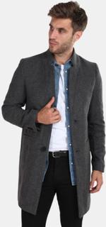 Only & Sons Max Wool Trench Frakke Dark Grey Melange