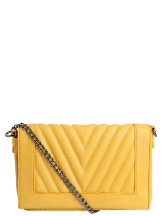 PIECES Detailed Crossbody Bag Women Yellow
