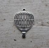 Berlock Silverfärgad - Luftballong, 1 styck