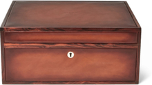 Polished-leather And Wood Cigar Box - Tan