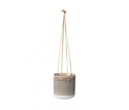 Broste Copenhagen Almas - Urtepotte til ophæng i keramik - Sand - 17 cm.