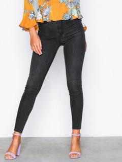 Gina Tricot Molly High Waist Jeans Skinny Black Grey