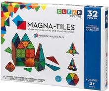 Magna-tiles magnetiska byggplattor (klara färger, 32 bitar)