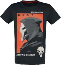 Overwatch - Reaper - From The Shadows -T-skjorte - svart