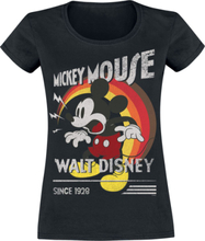 Mickey Mouse - Retro Shout -T-skjorte - svart