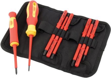 Draper Tools VDE-isolerad skruvmejsel och blad 10 st 05721