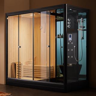 Dusjkabinett med sauna U881 220X120X220cm