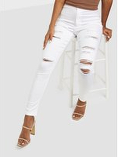 Missguided Vice Multi Rip High Waisted Skinny Jeans