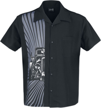 Steady Clothing - Hot Rod Burst -Kortermet skjorte - svart