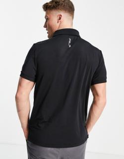 Polo Ralph Lauren RLX Golf lightweight airflow shoulder logo polo in polo black