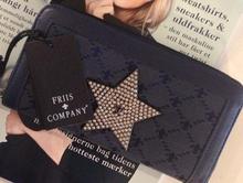 Friis och Company plånbok Star Kalaha blå