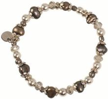Pearls for Girls armband med bruna pärlor