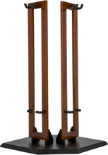 Fender Hanging Wood Double Guitar Stand (Cherry With Black Base)