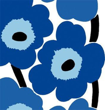 Servett Unikko 33x33 cm Blå