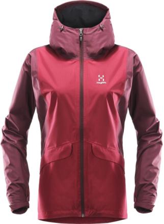 Mila Rain Women's Jacket Tummanpunainen XS