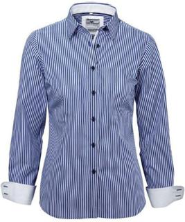 Damblus JACKSON mörkblå tailored fit