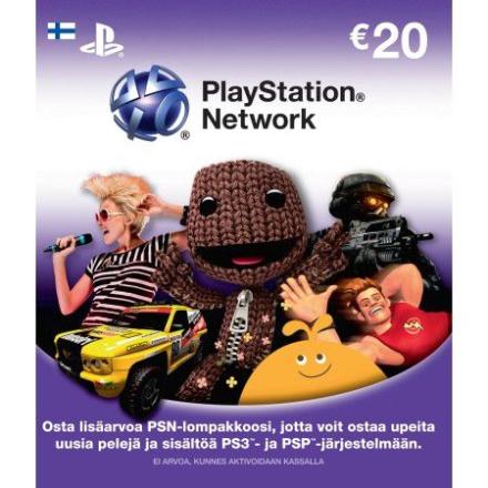 Playstation Network Card (PSN Kortti) 20 Euro (PS3/PS4/Vita) /PlayStation 3
