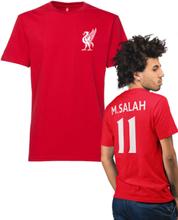Liverpool stil röd t-shirt med salah 11 på ryggen