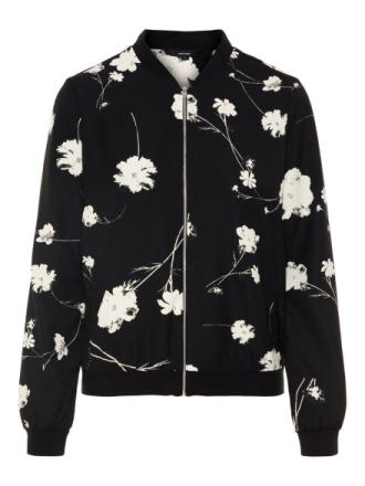 VERO MODA Floral Bomber Jacket Women Black