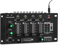 Amnesia 4-kanal mixer mixerbord, BT, USB, MP3, 2 x mikrofon, svart