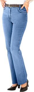 Jeans med broderi og strasspynt Laura Kent Blå