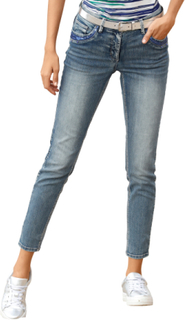 Jeans med paljetter og strass AMY VERMONT Hvit::Sølvfarger