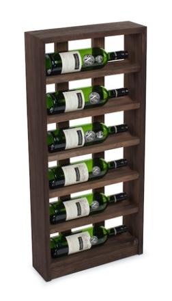 Traditional Wine Racks 6 Flaskors Vinställ för vägg Mörk Ek