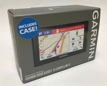 NYE Garmin DriveAssist 51LMT-S 5-tommers navigasjonssystem med inne...